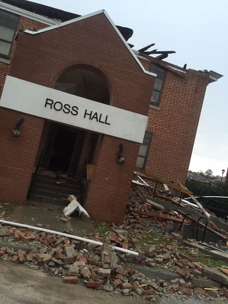 The aftermath of the Hattiesburg tornado
