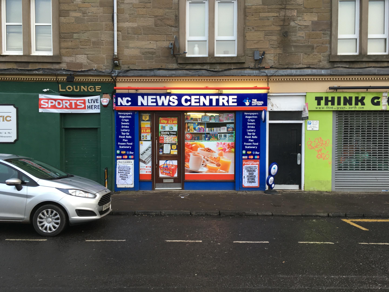 The Strathmartine Road newsagent raided on Saturday.