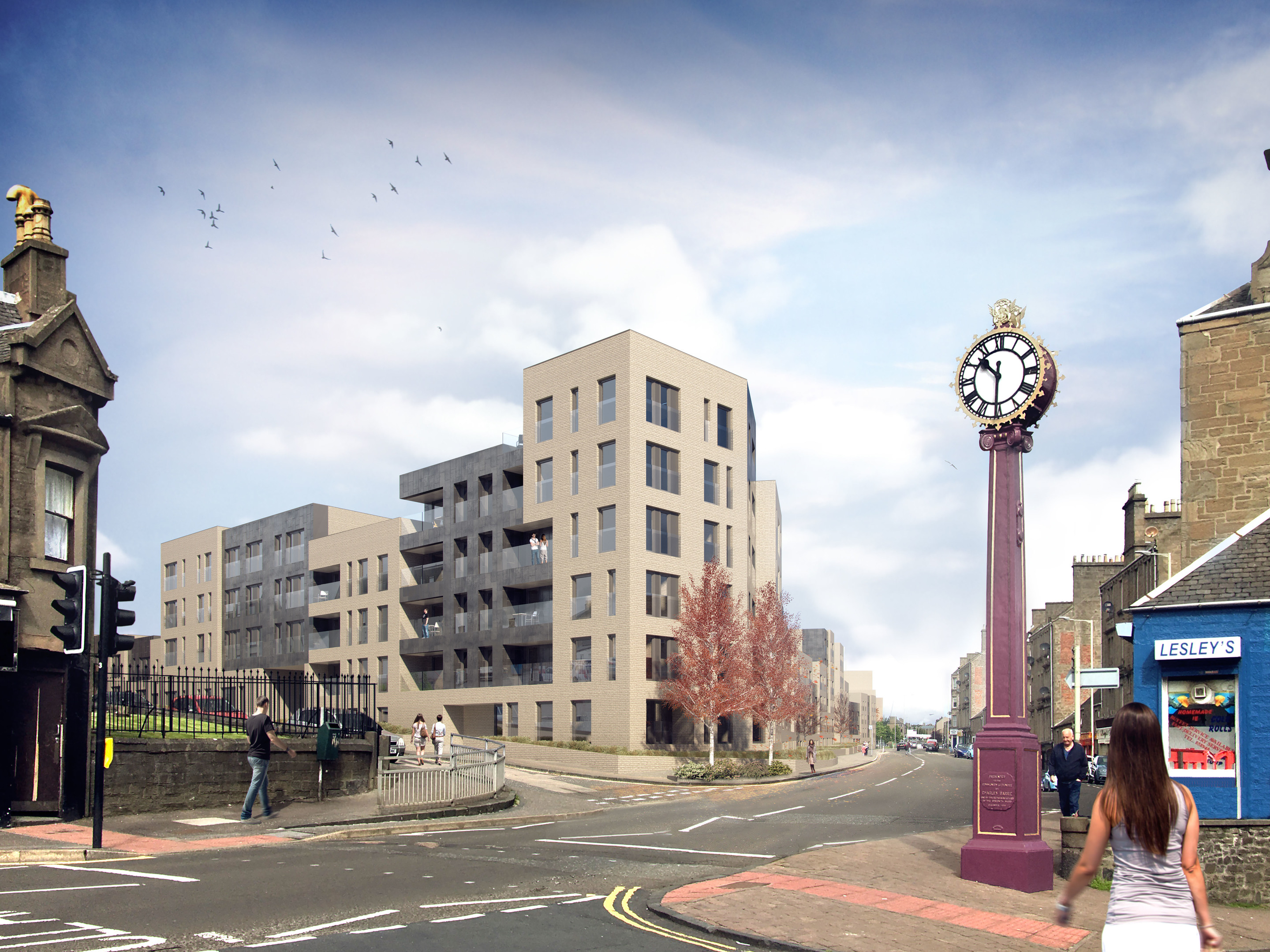 An indicative image of how the Derby Street development will look.