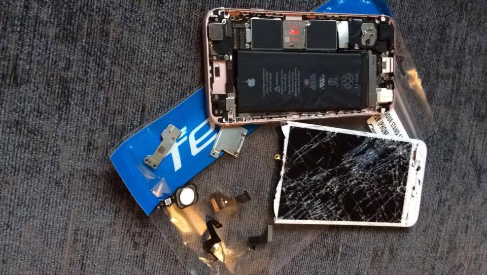 "Jaye said her phone was returned to her ""in bits""."