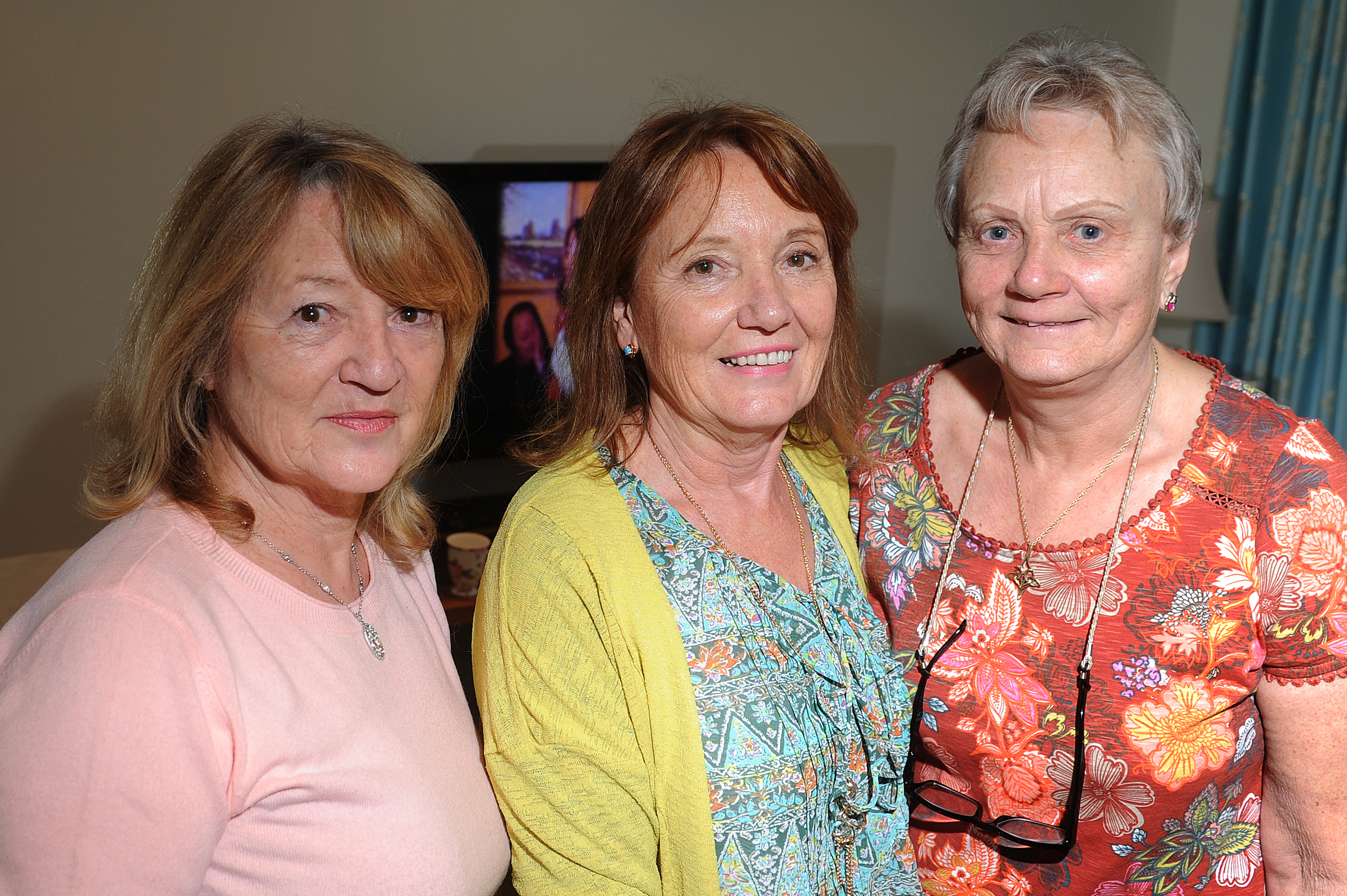 Maureen Brunton, her sister Johan Cowan and cousin Lydia Gorman who were all in the original film.
