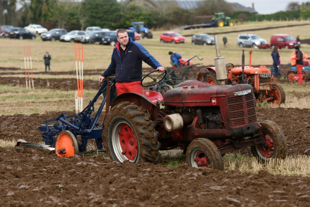 Competitor in one of the trailed plough competitions.
