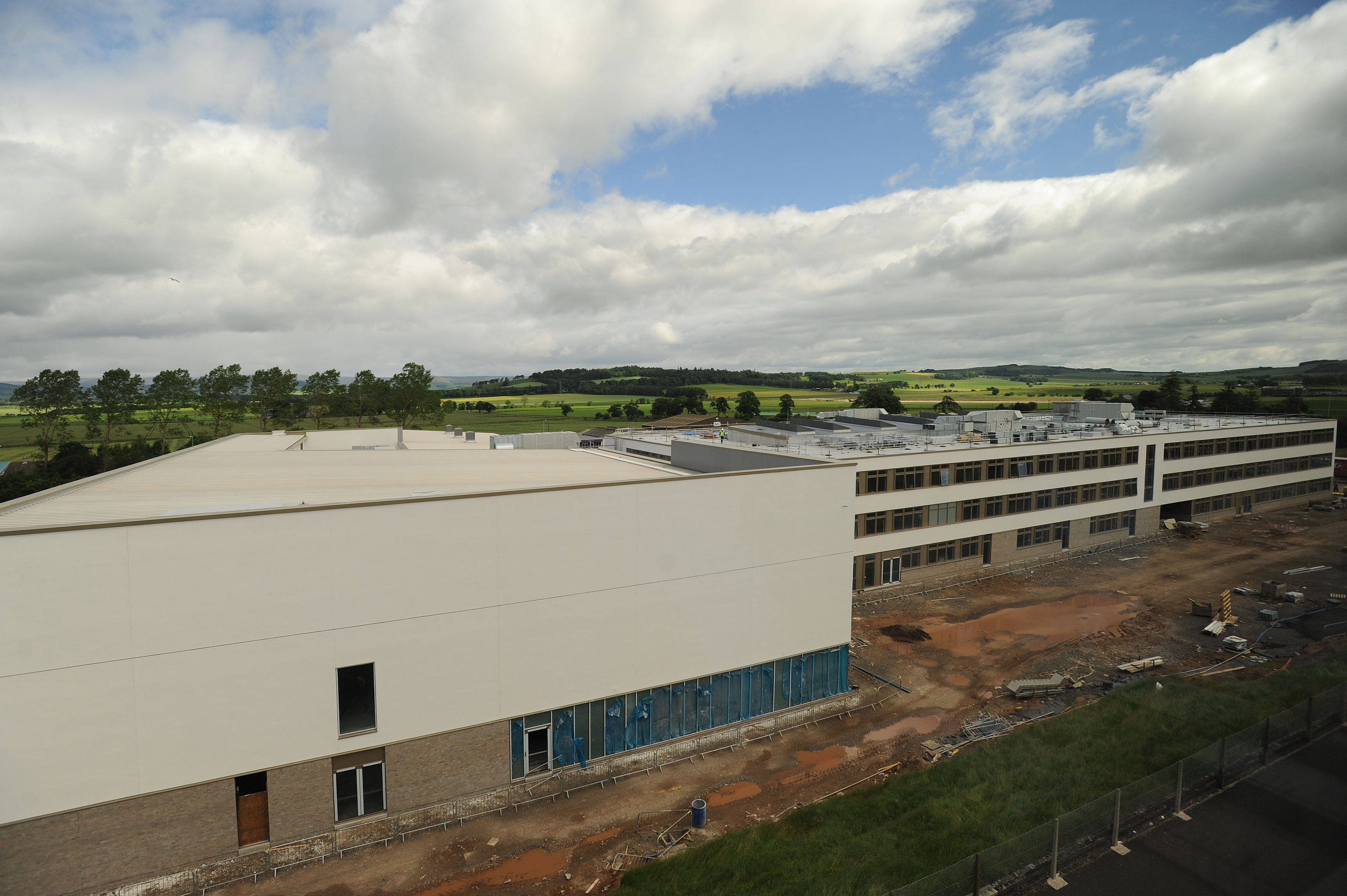 Construction work on the new Forfar Community Campus pictured in June last year