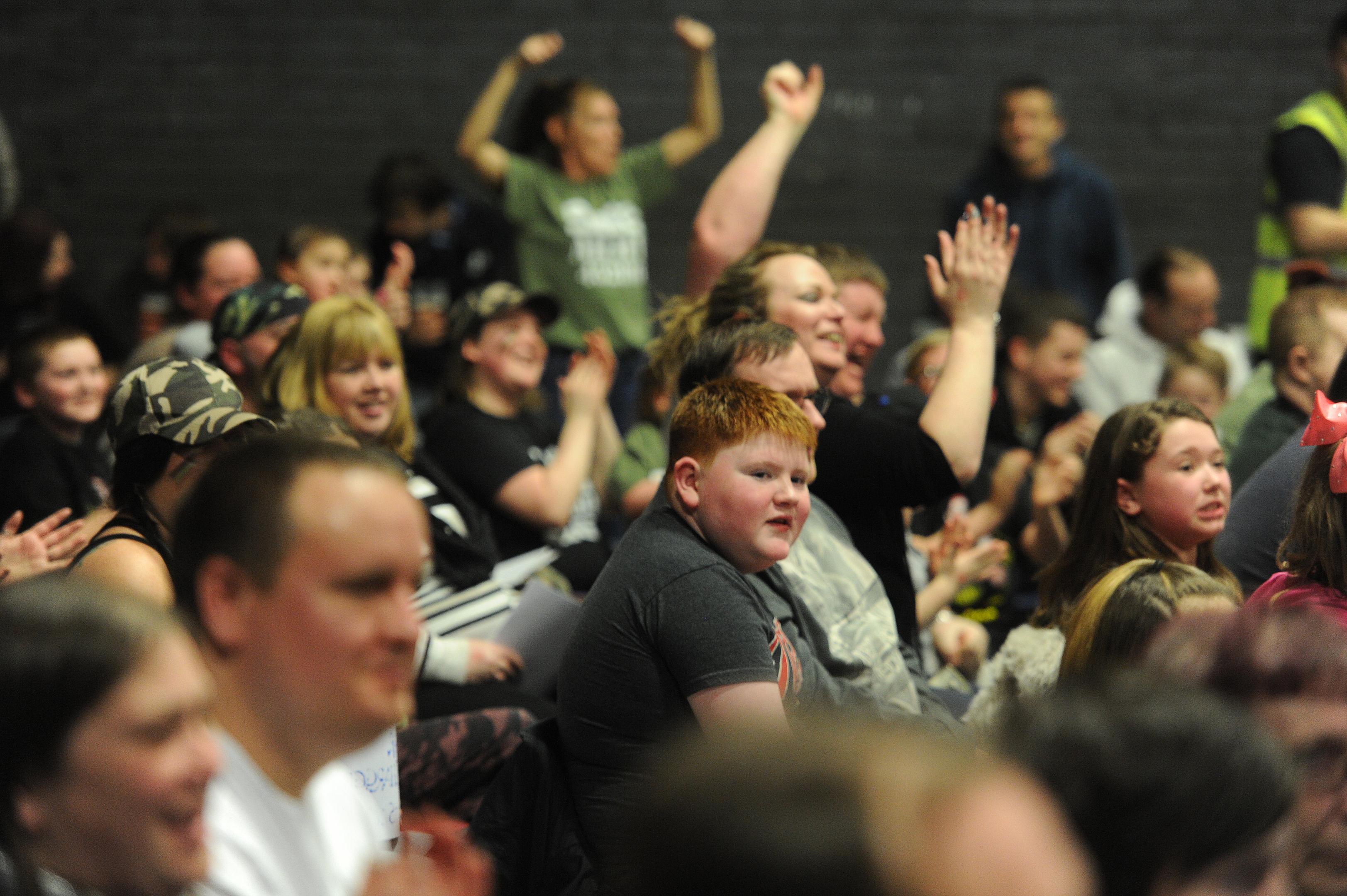 Fans enjoy the SWE wrestling event.