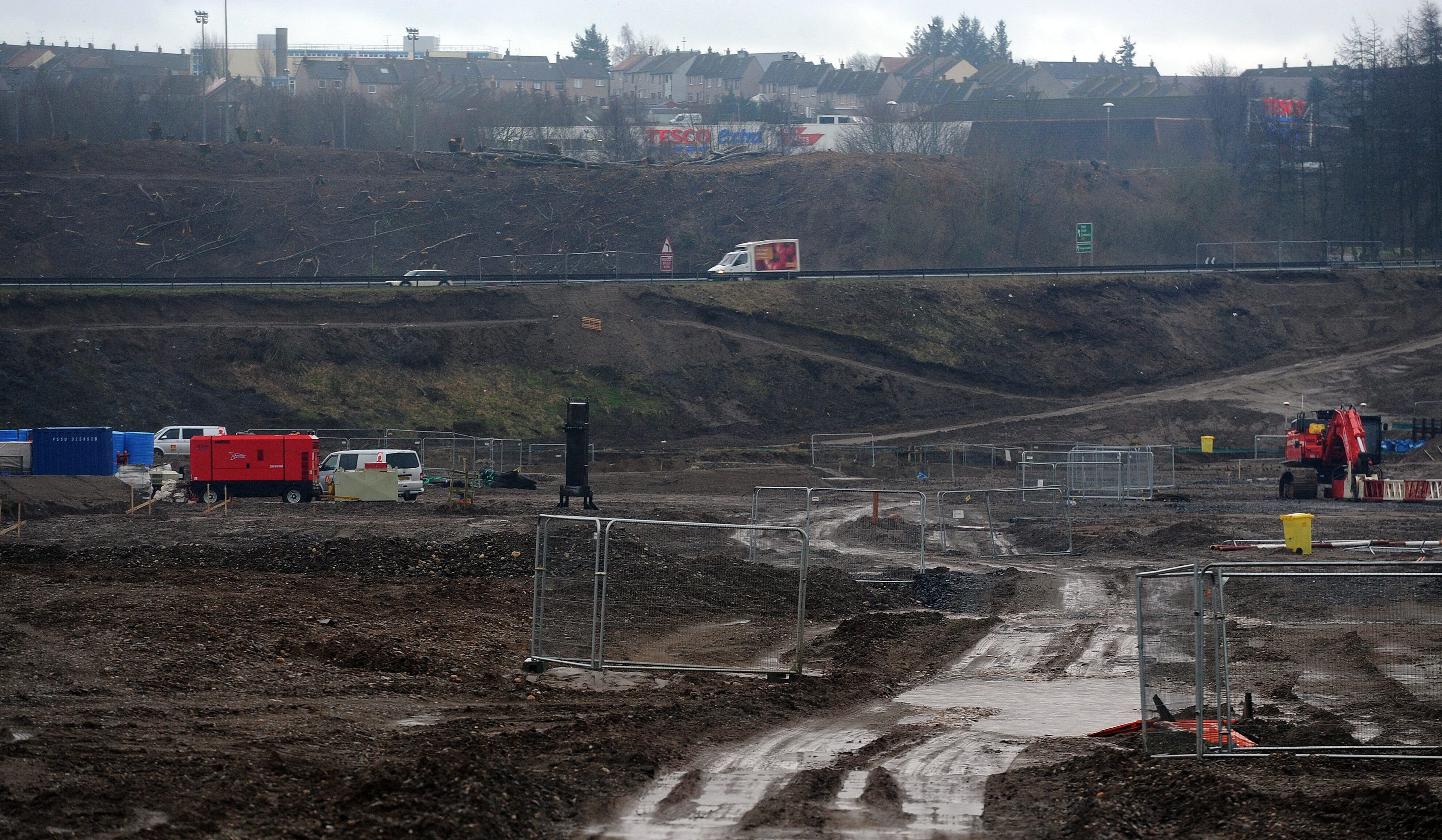 Work taking place near the A9.