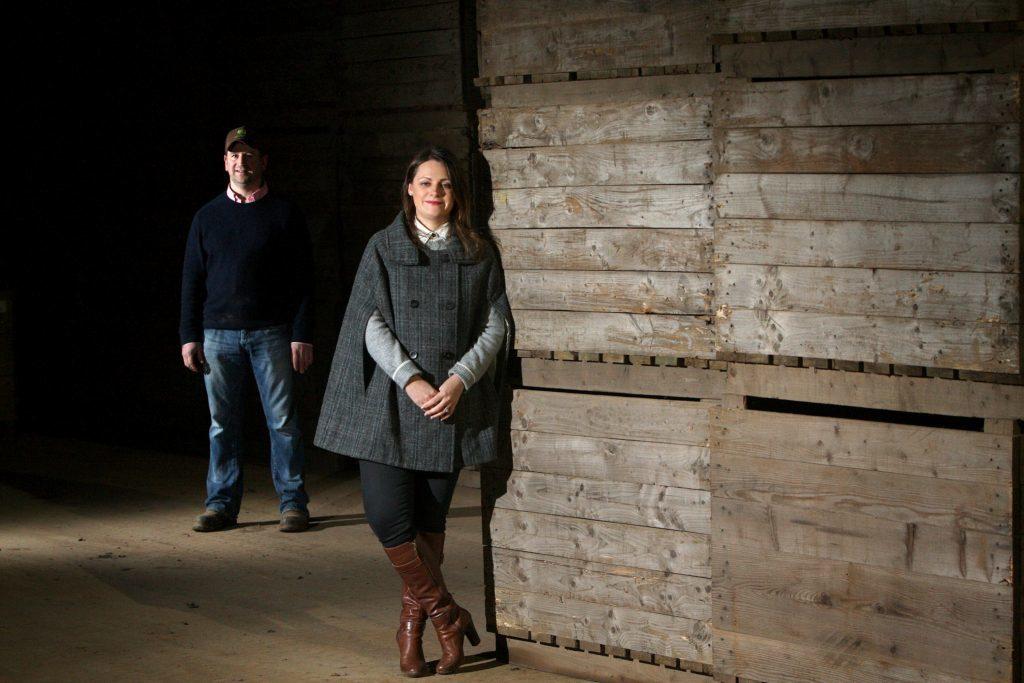 Graeme and Caroline Jarron at Hatton of Ogilvy Farm.