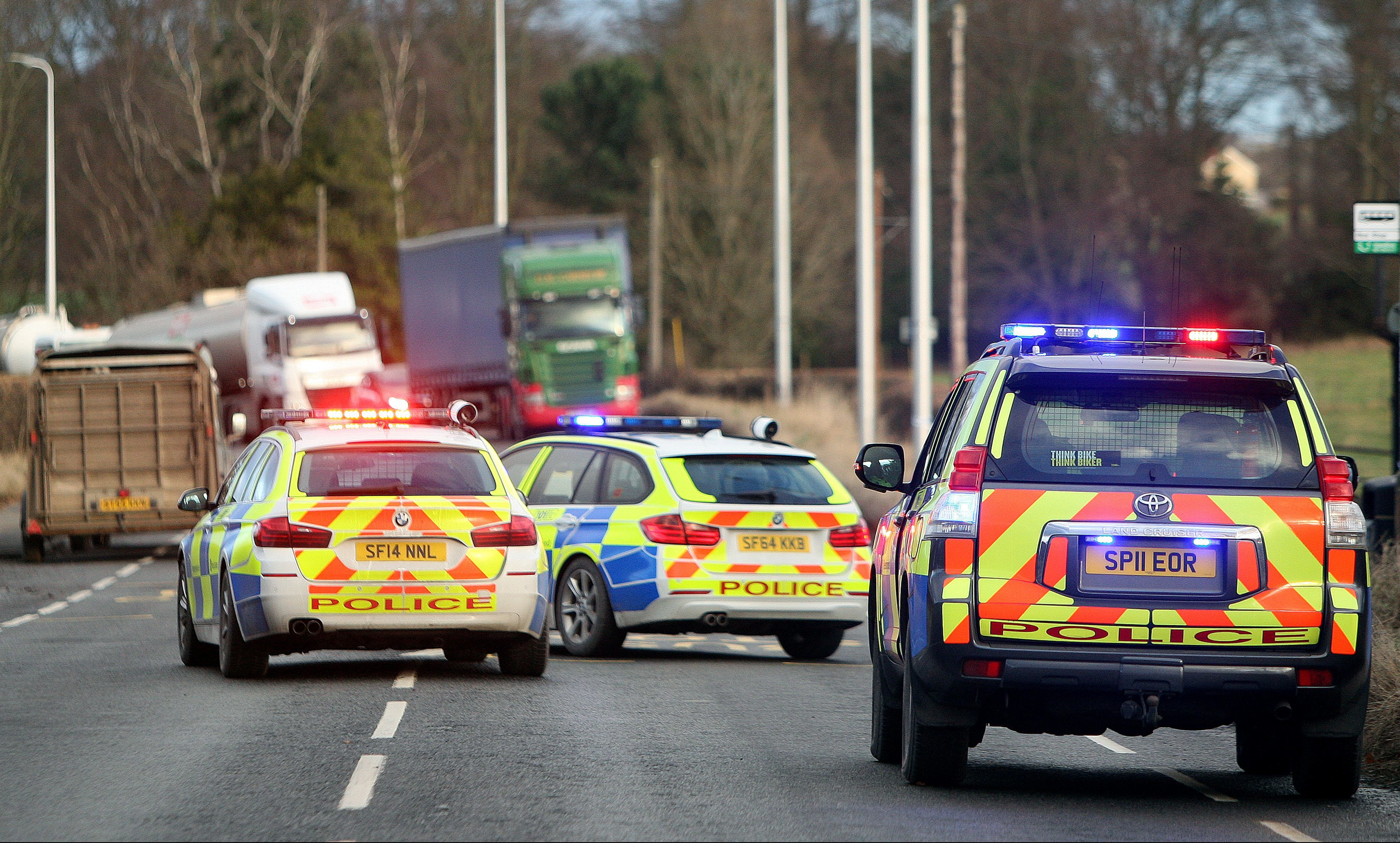 Police closed the A94 road after the accident.
