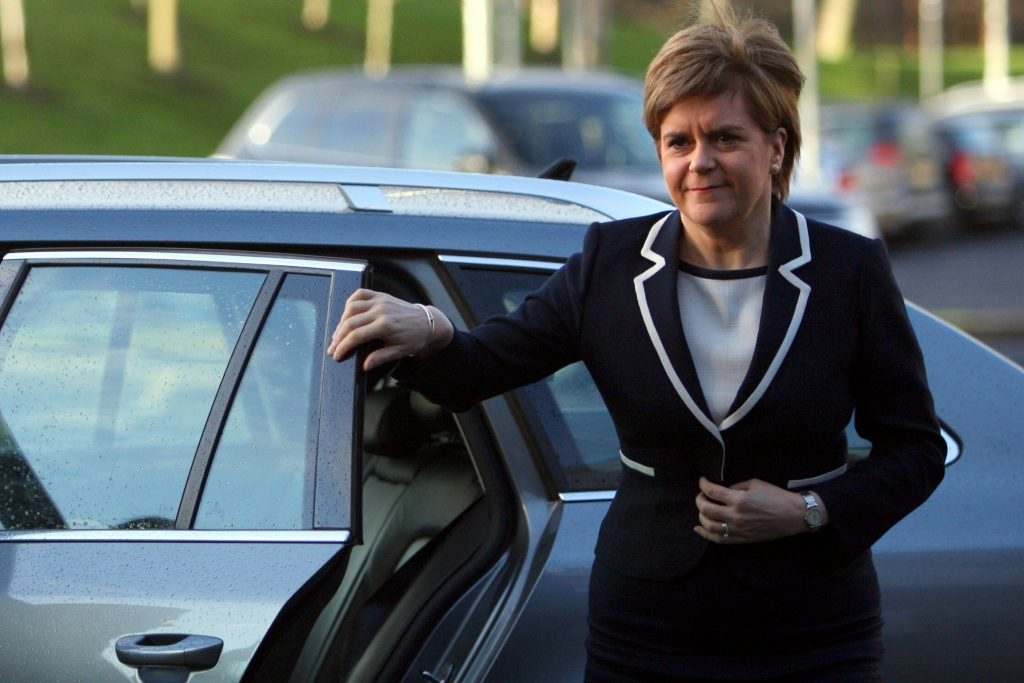 First Minister Nicola Sturgeon arriving at Ninewells Hospital to see the trauma unit and physiotherapy departments earlier this year.