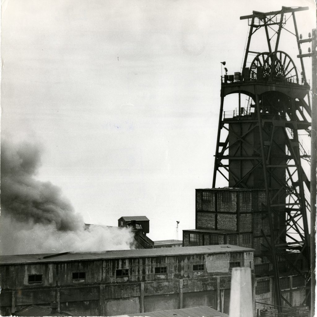Smoke rising from the Michael Colliery, East Wemyss.