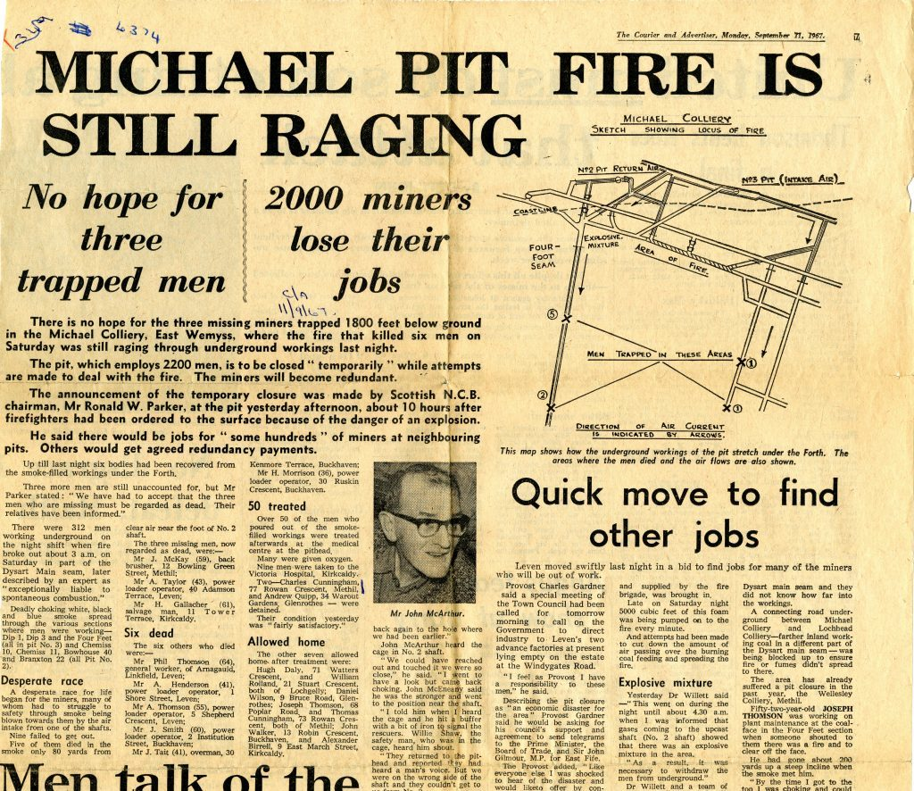The Courier's coverage of the tragedy in 1967.