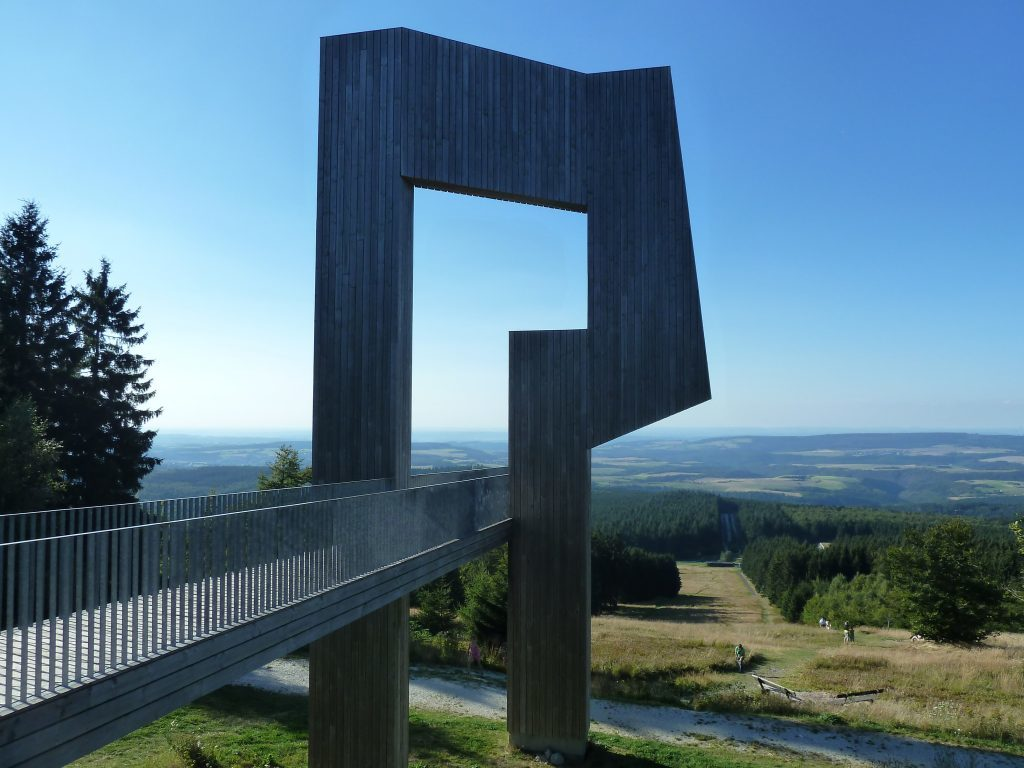 the spectacular viewpoint at the top of the Erbeskopf mountain in the Hunsruck-Hochwald national park.