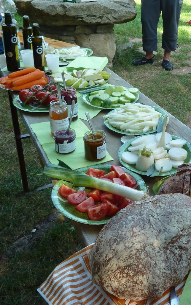 Whether enjoyed with formal meals or, as here, during an open-air picnic, local produce was proudly presented and deliciously fresh and flavoursome.