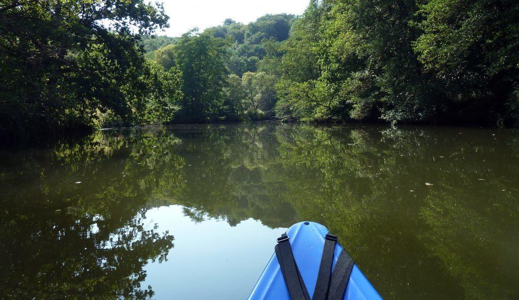 Easy progress along the calm River Blies.