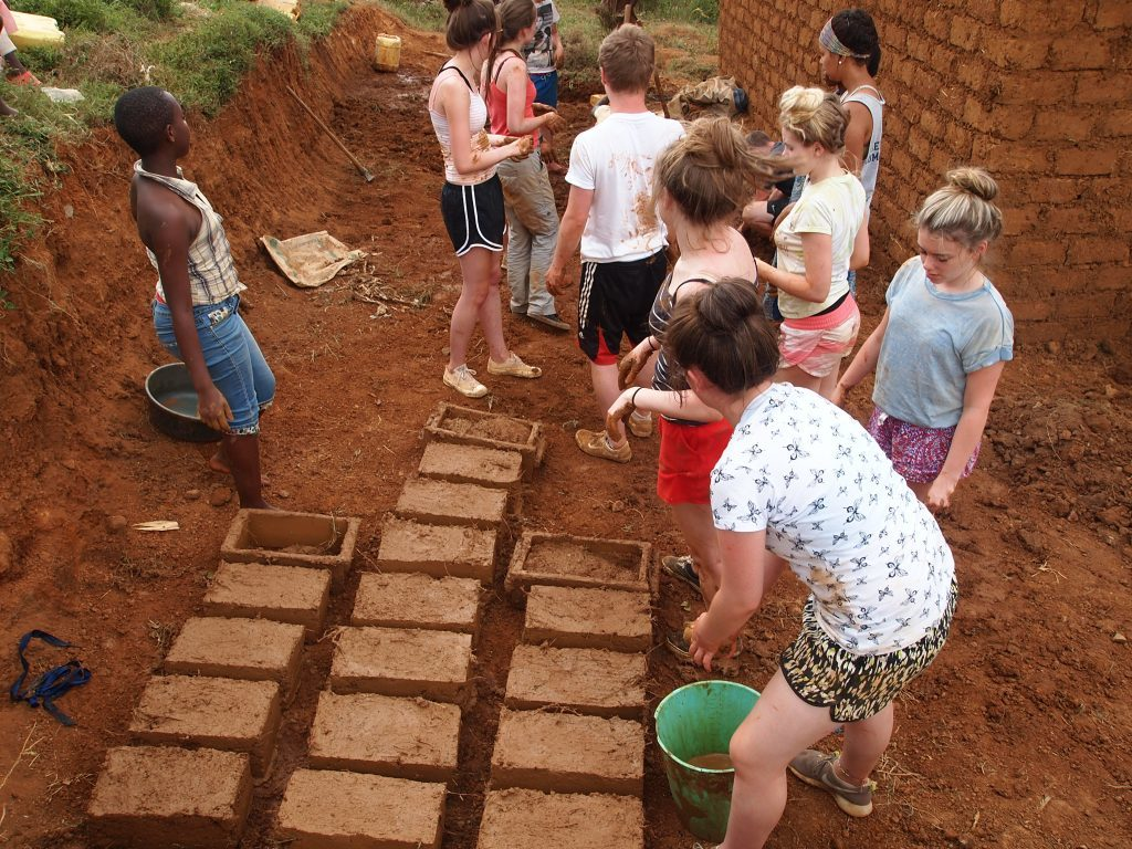 Arbroath Academy pupils during a previous trip to Rwanda