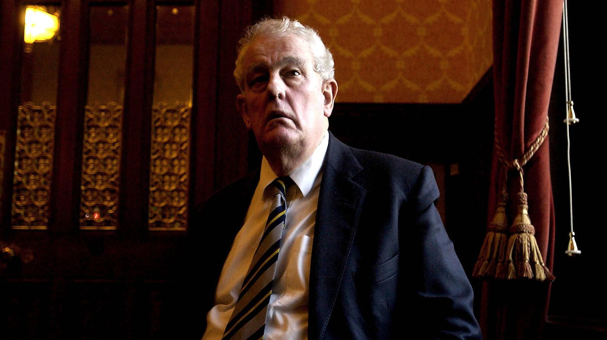 Former Father of the House and Labour MP Tam Dalyell, in the House of Commons,