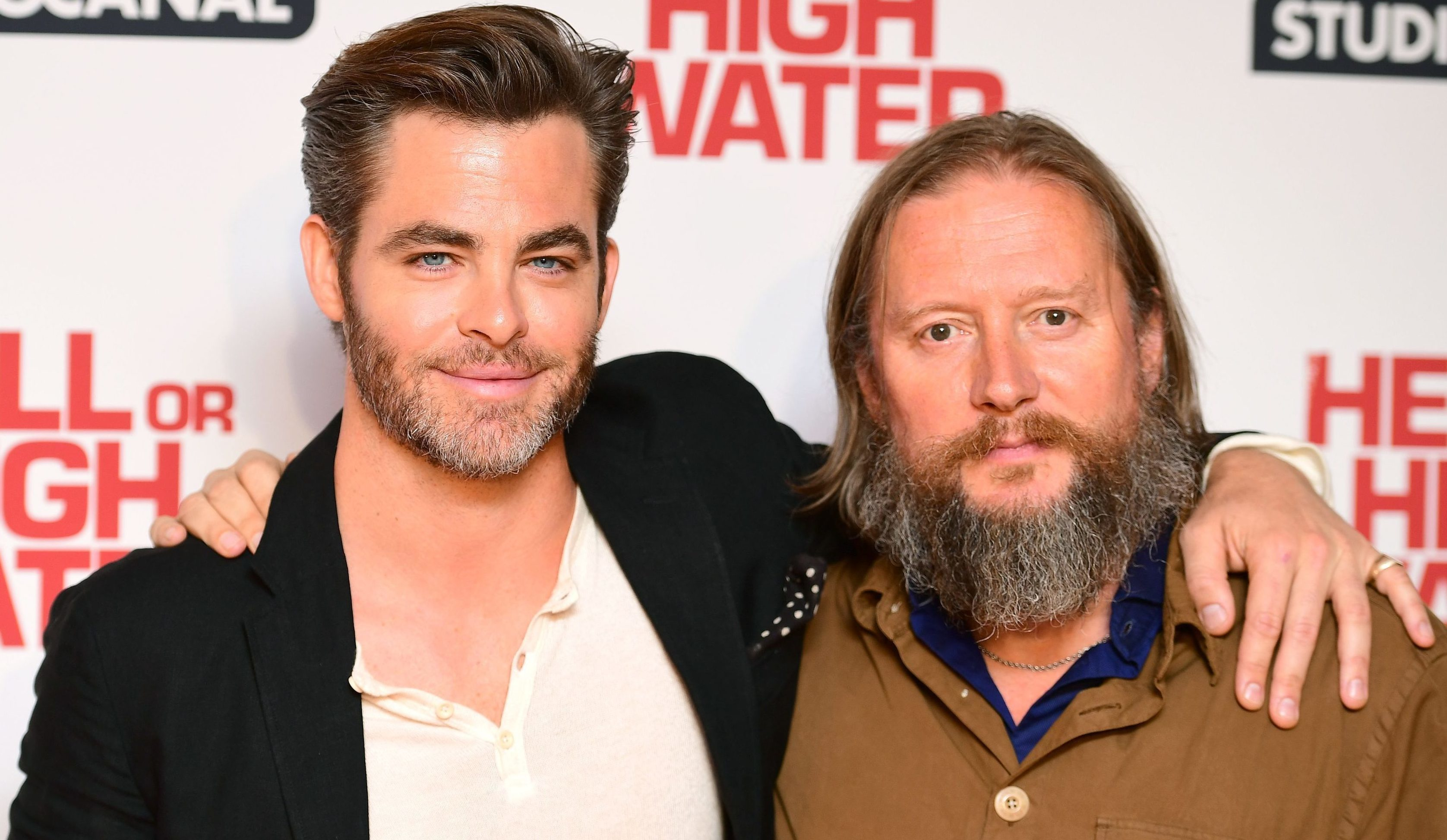 Actor Chris Pine and director David Mackenzie at a screening of Hell or High Water in London.