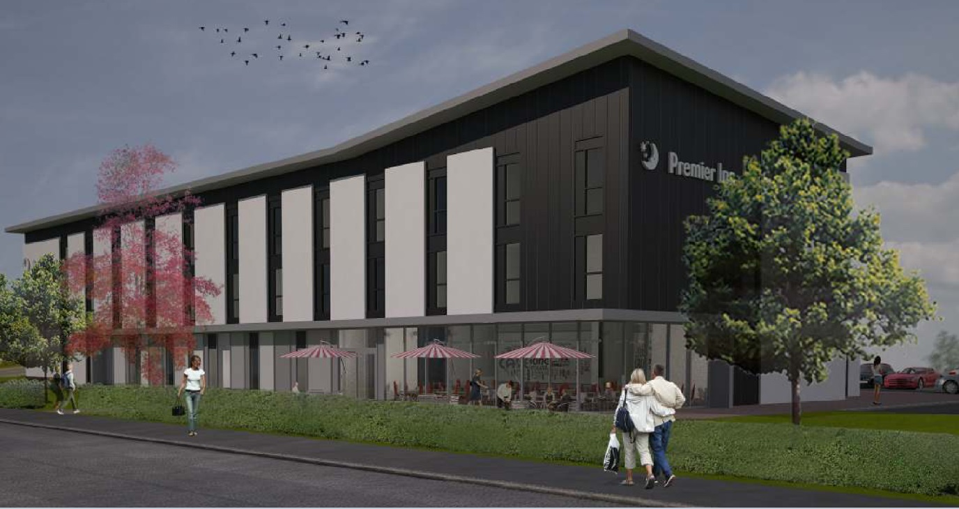 An artist's impression of the Kirkcaldy Premier Inn