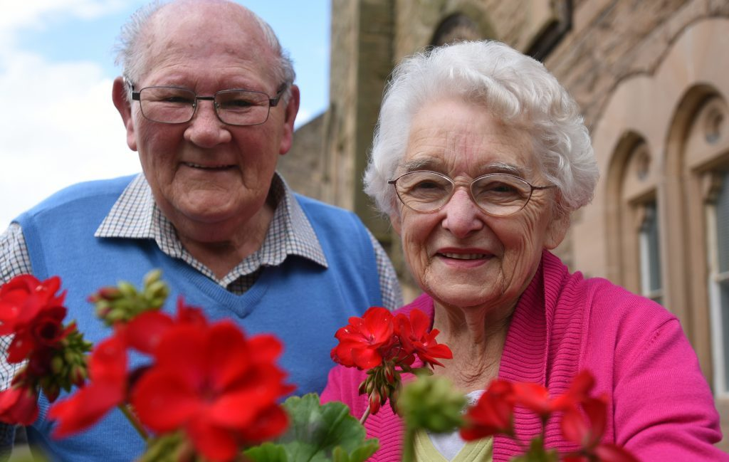 Cupar Muir woman Mary Law MBE with her husband Ronnie. Mary believes the Queen should be admired.