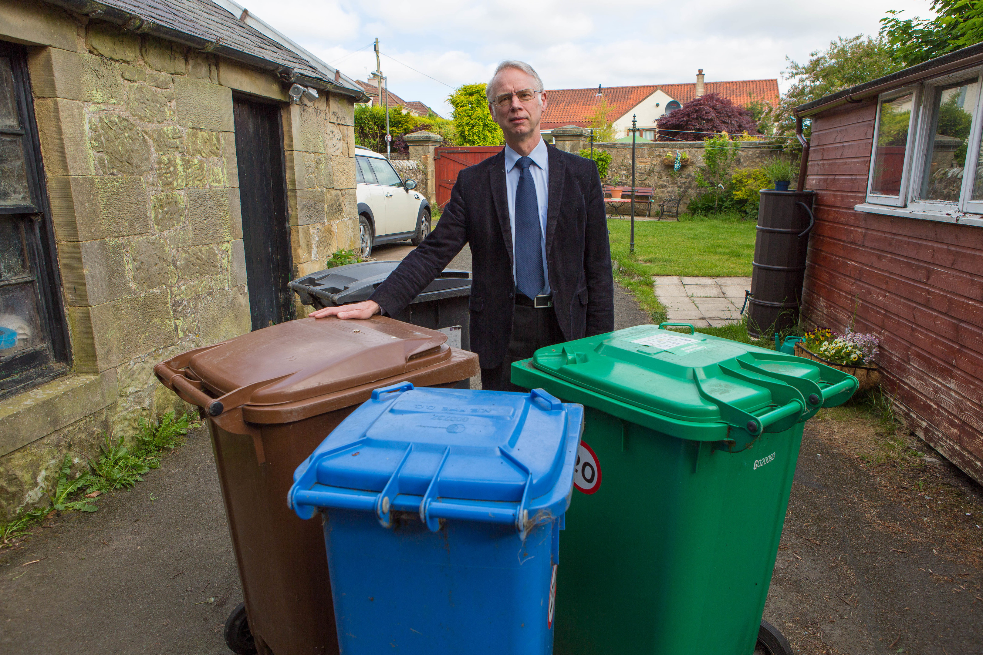 Cllr John Wincott is horrified by the levels of fly tipping in Fife.