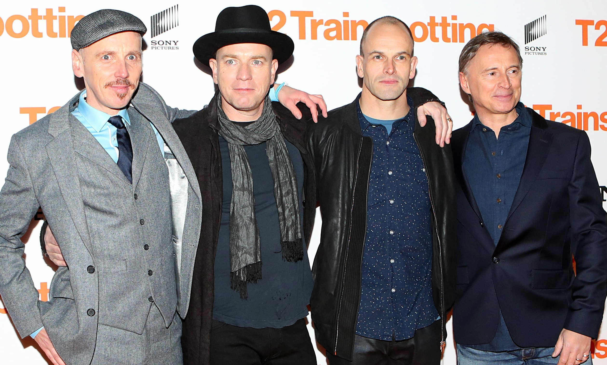 Ewen Bremner, Ewan McGregor, Jonny Lee Miller and Robert Carlyle at the world premiere of Trainspotting 2 at Cineworld in Edinburgh.