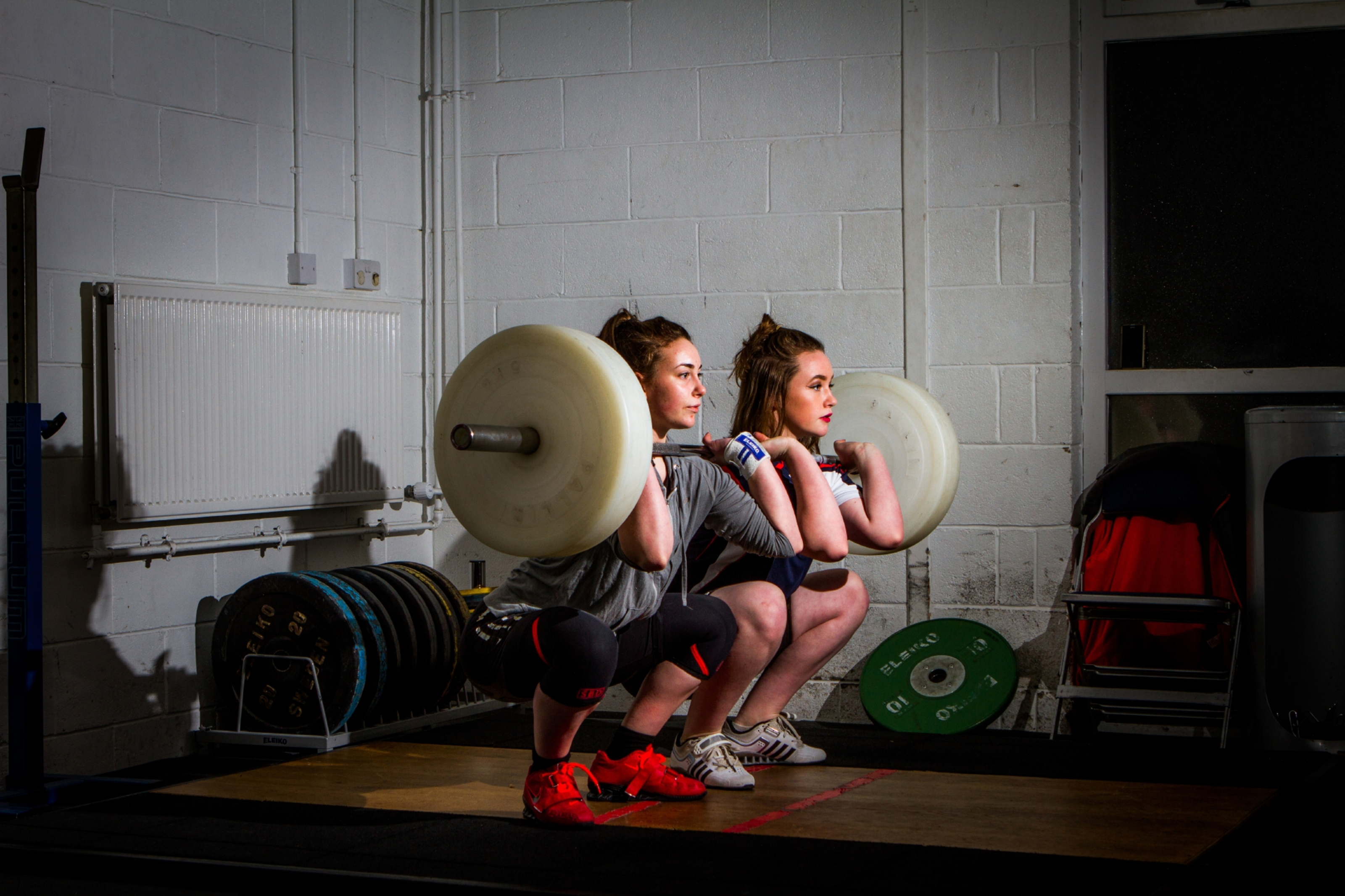 Picture shows Holly (aged 14, right) and Rowan (aged 16, left) Morrogh Bernard during training in Pitlochry.