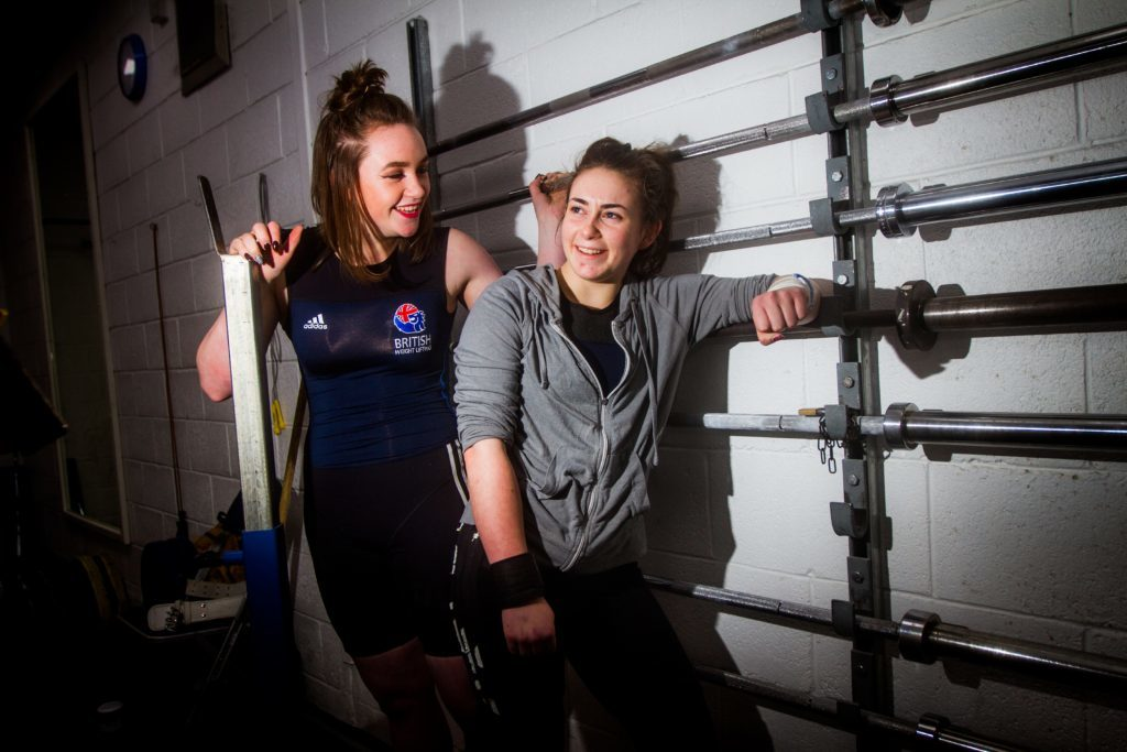 Holly and Rowan hanging out at the gym in Pitlochry.