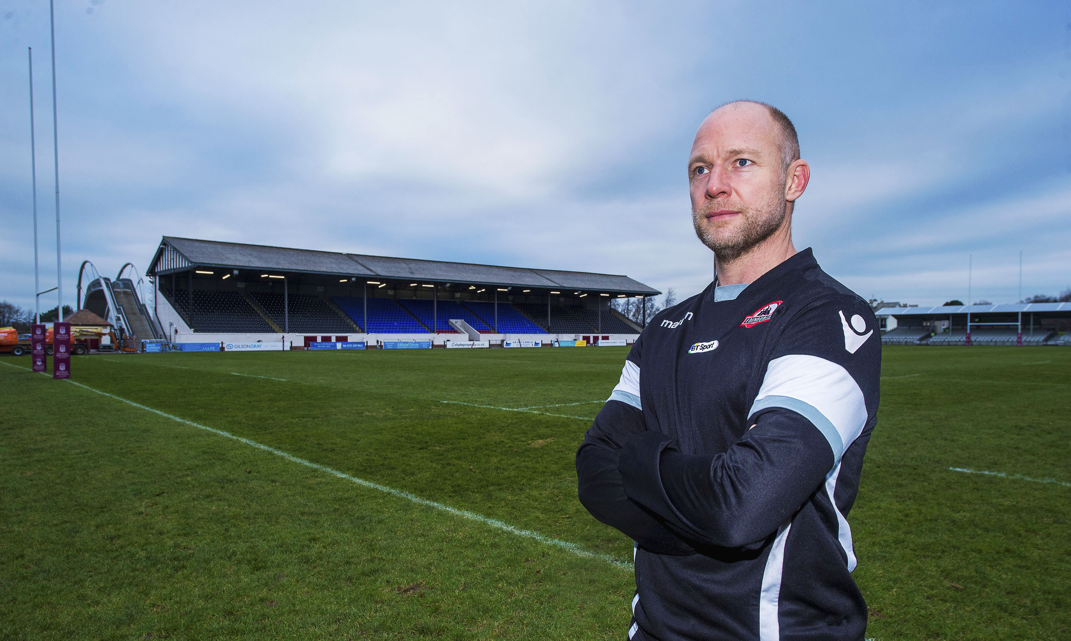 Acting head coach Duncan Hodge at Edinburgh's new base at Myreside.