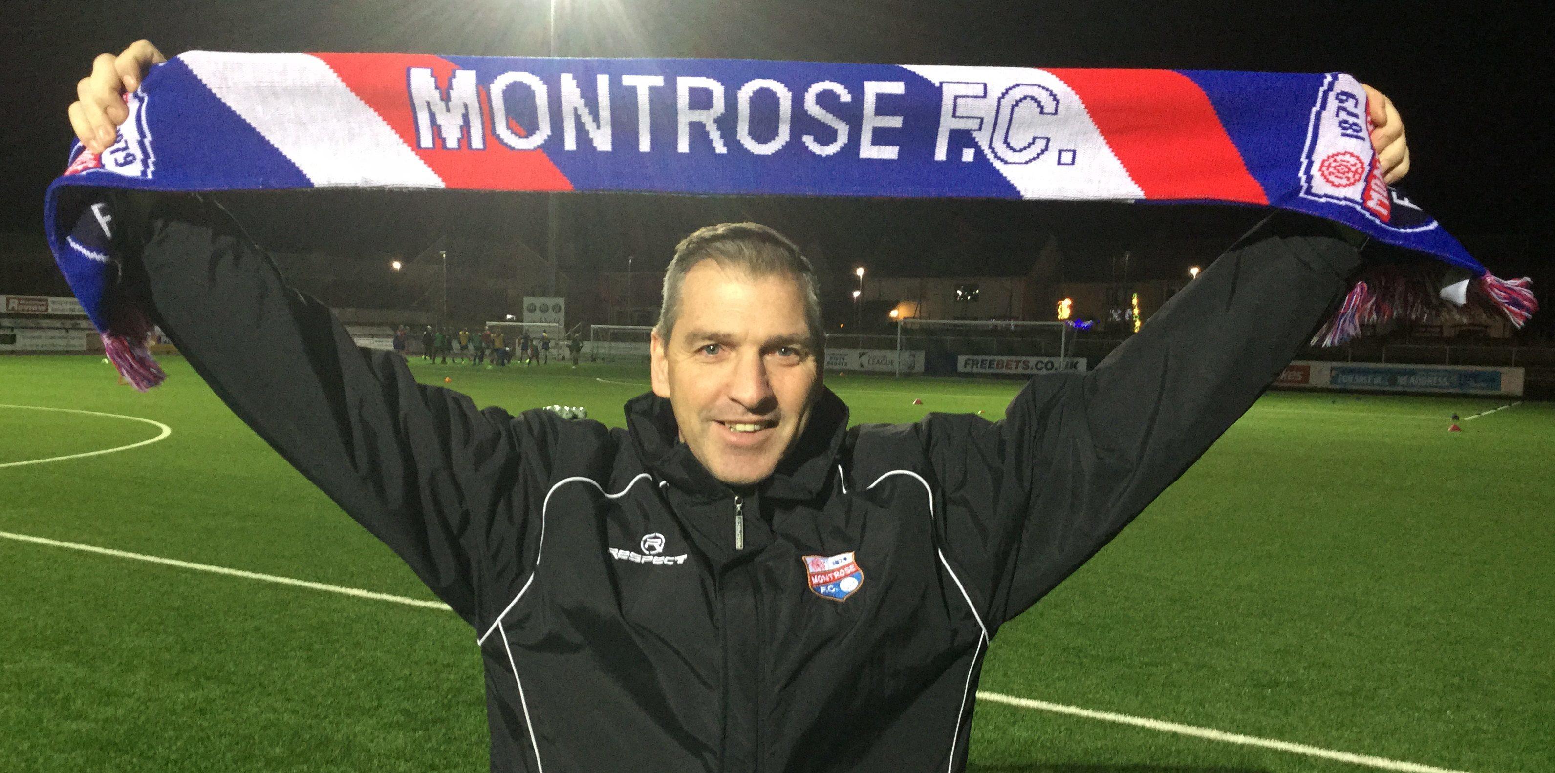 Montrose boss Stewart Petrie.