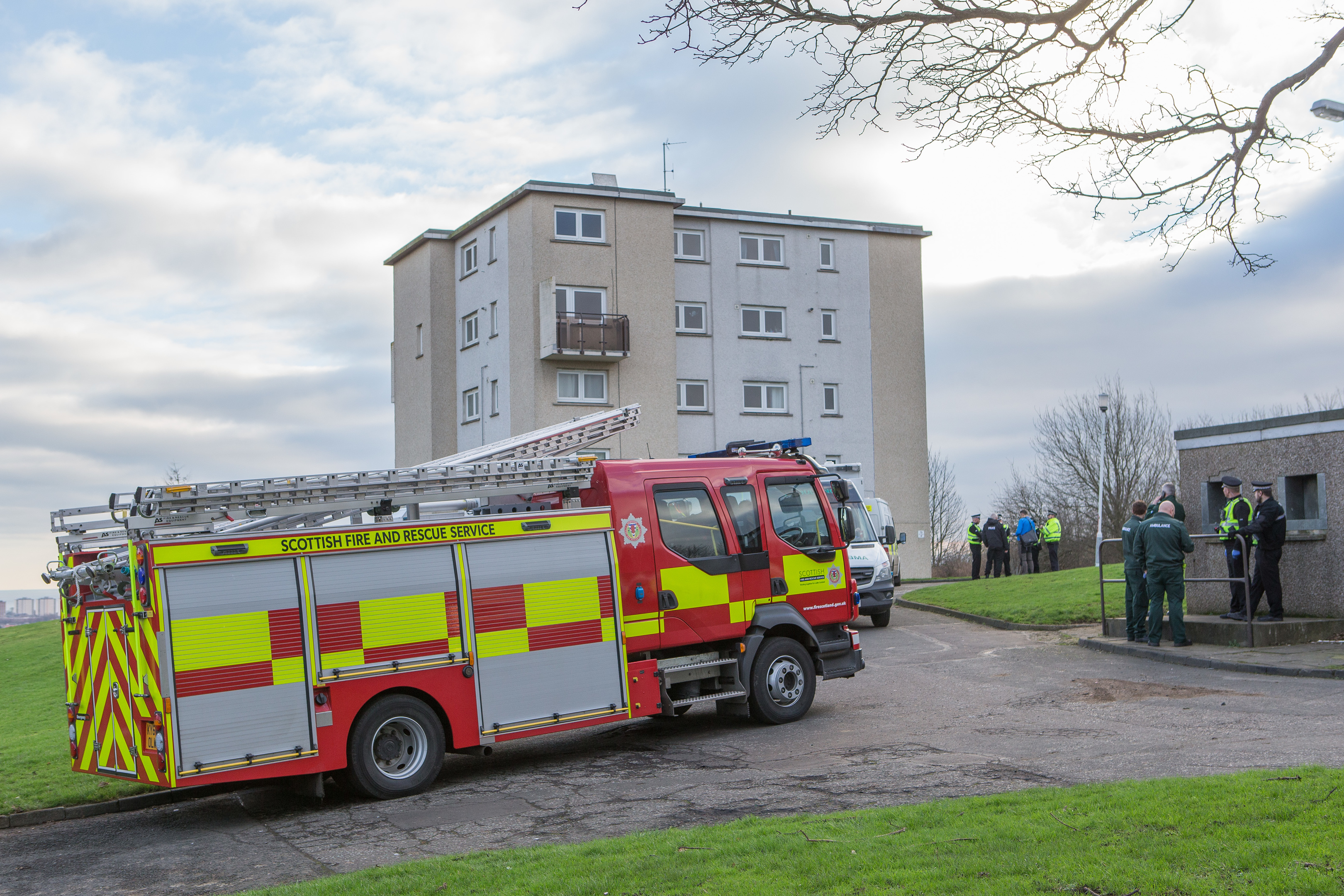 Police, ambulance and the fire service in attendance at the incident.