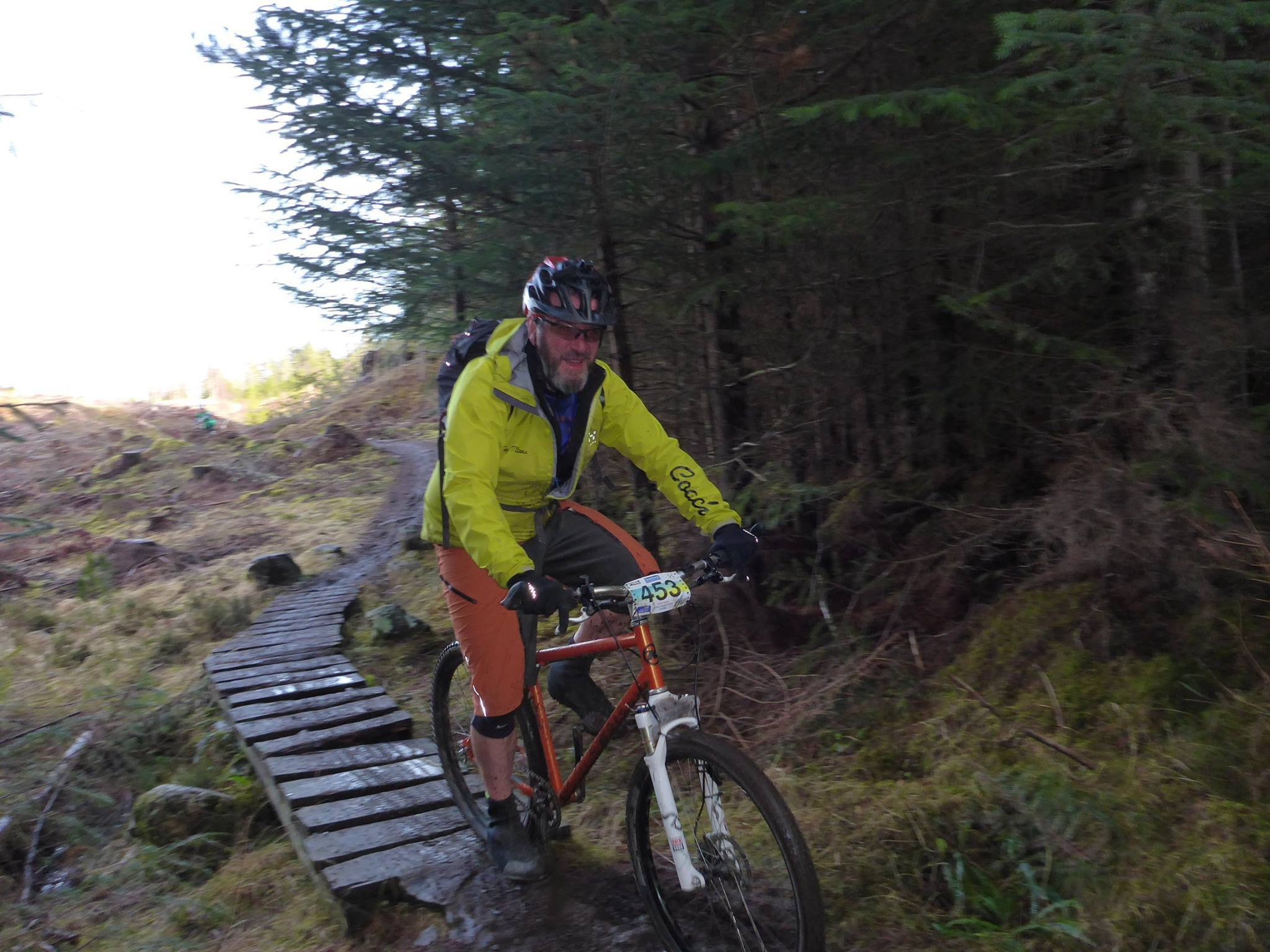Scot on the single track section of the Strathpuffer