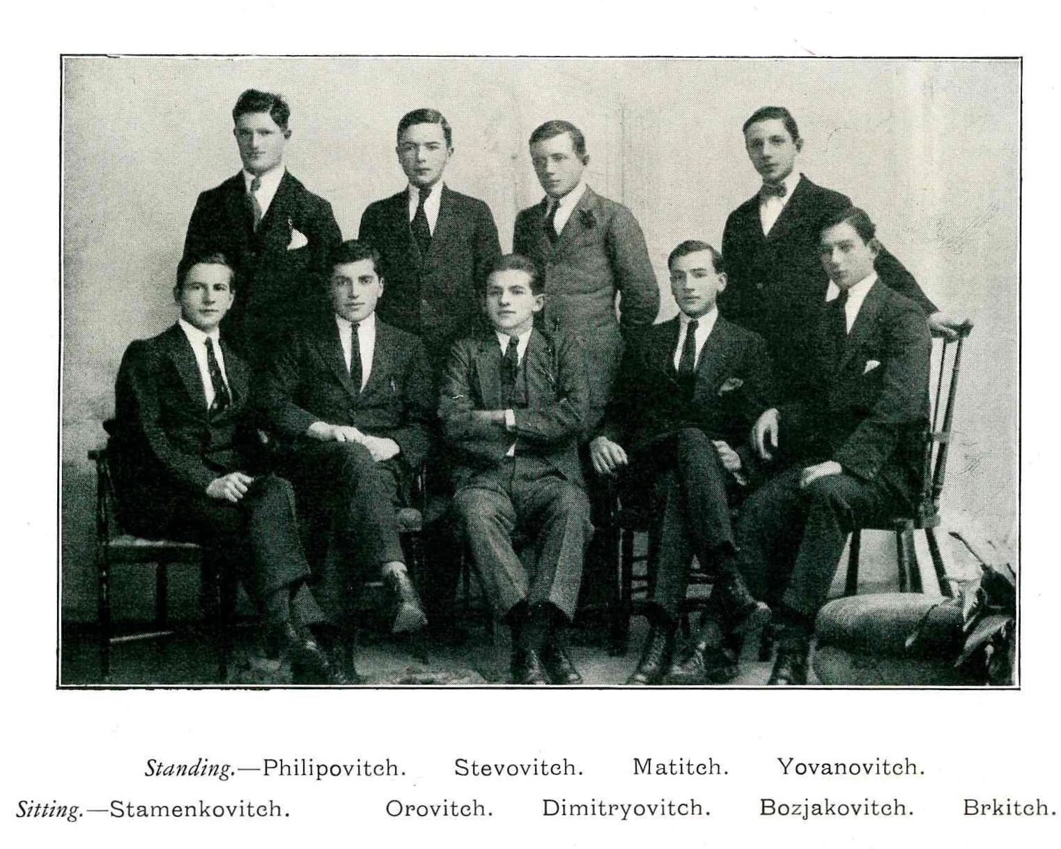 Some of the Serbian refugees who attended the High School of Dundee.