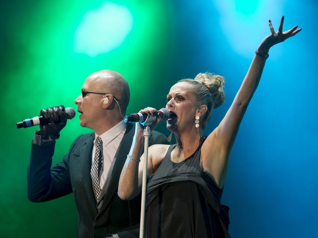 Human League when they headlined at Rewind Scotland in 2013.