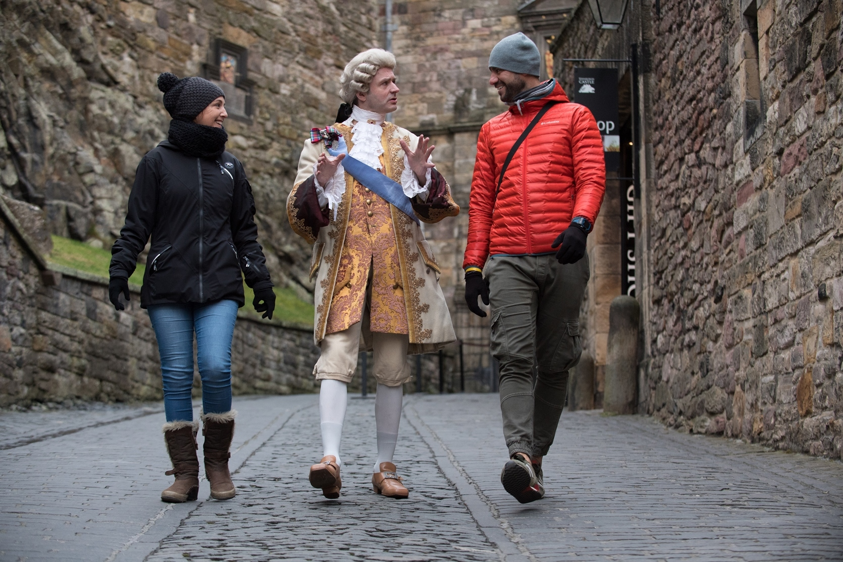 Bonnie Prince Charlie  at Edinburgh Castle.