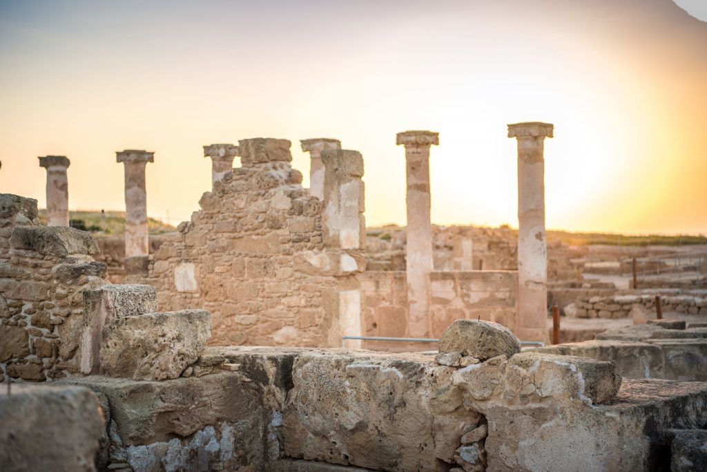 Ruins of the ancient city in Paphos.