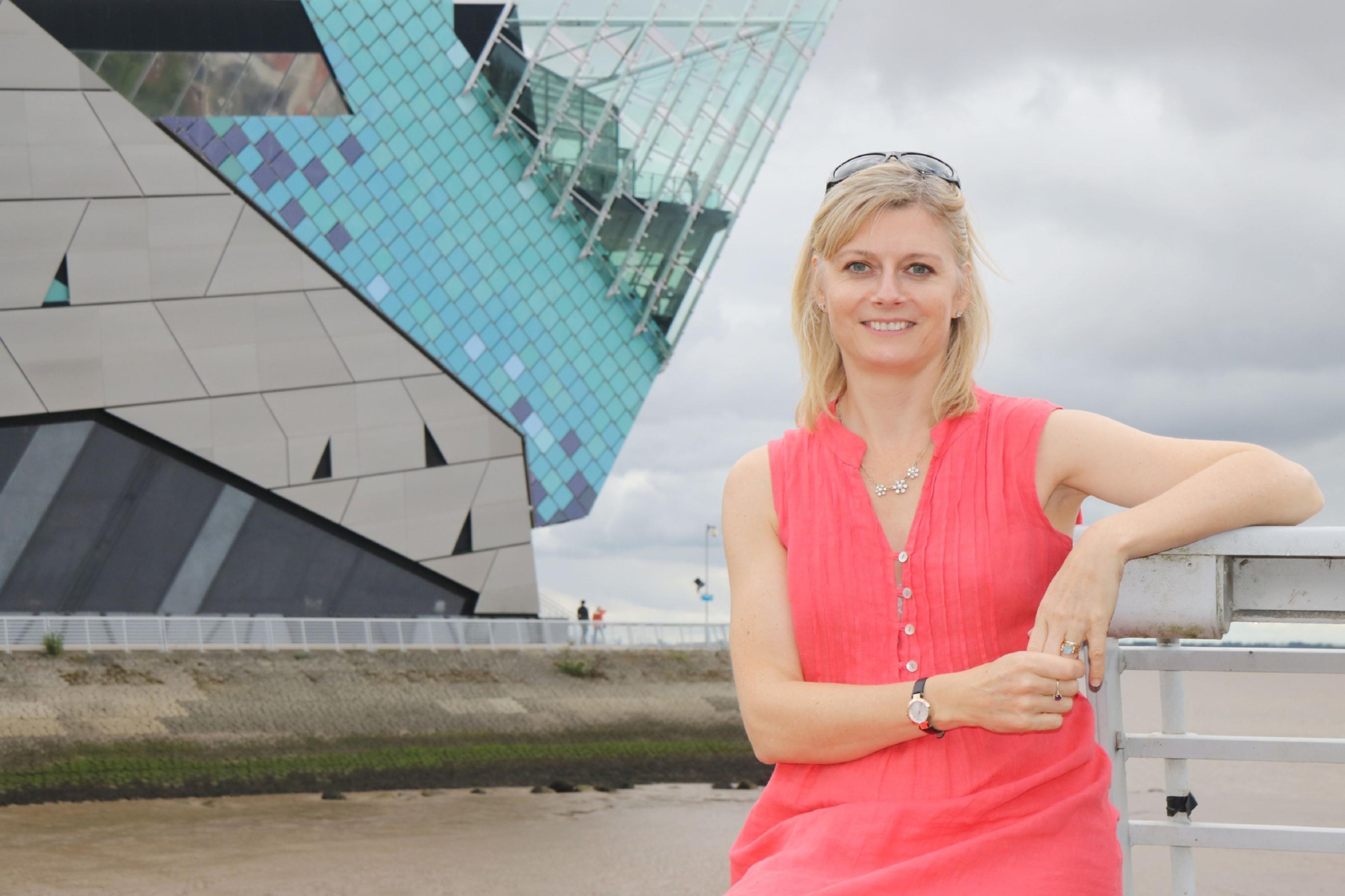Karen Bowerman outside The Deep, Hull.