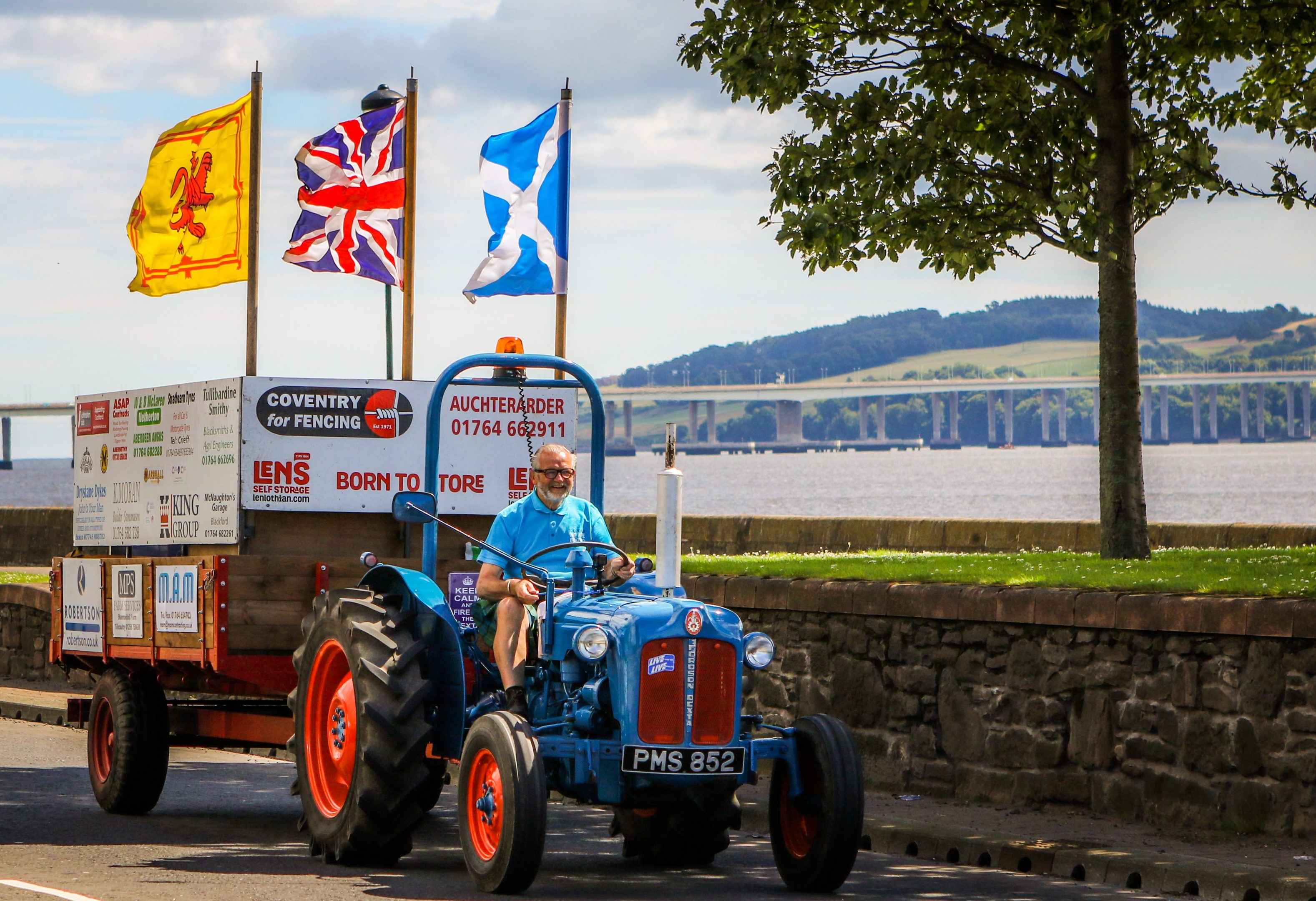David McLaren on home stretch of his coastal tractor tour.