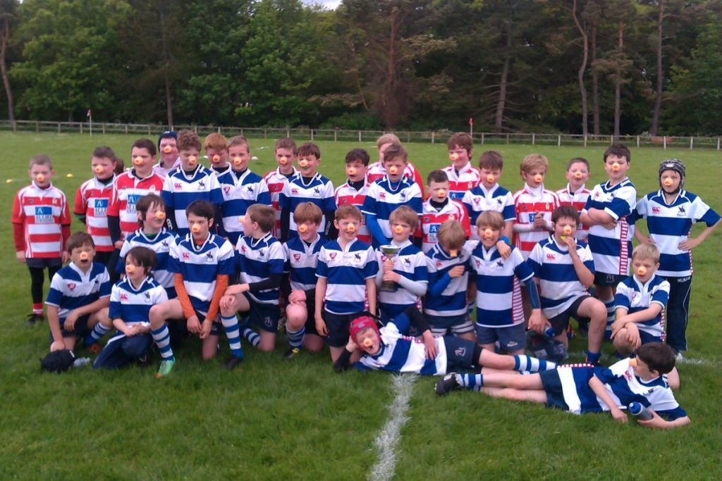 Howe of Fife and Moray mini-rugby event. Retaining young players as they grow older is key.