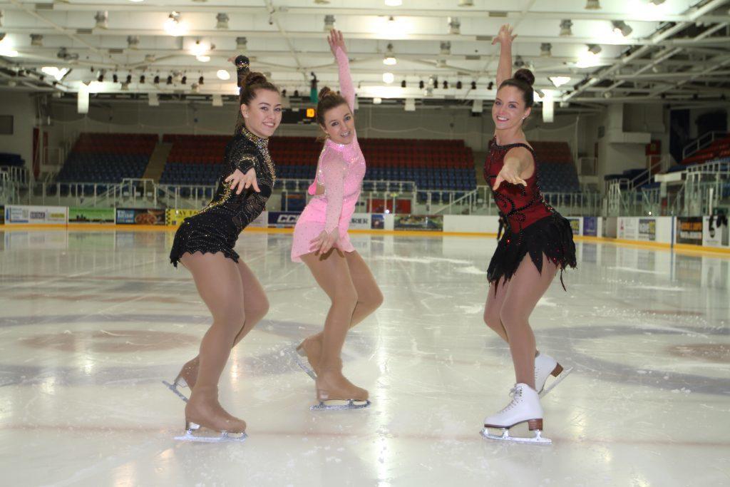 Anastasia Vaipan-Law (British Junior Ladies Silver medallist), Karly Robertson and Natasha McKay (British Senior Champion).