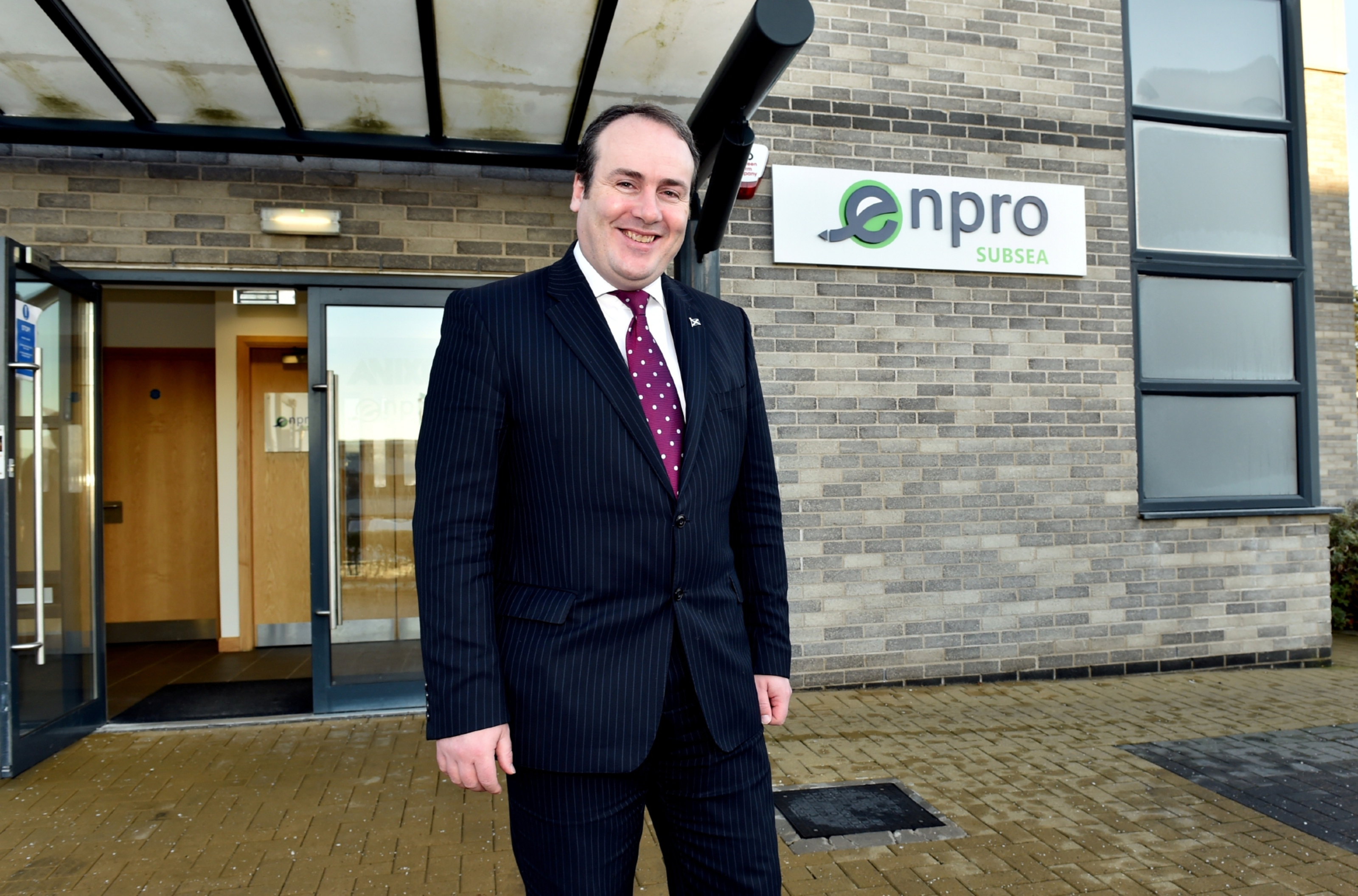 Minister of Business, Innovation and Energy, Paul Wheelhouse at  Enpro Subsea at Arnhall Business Park in Westhill, Aberdeen.