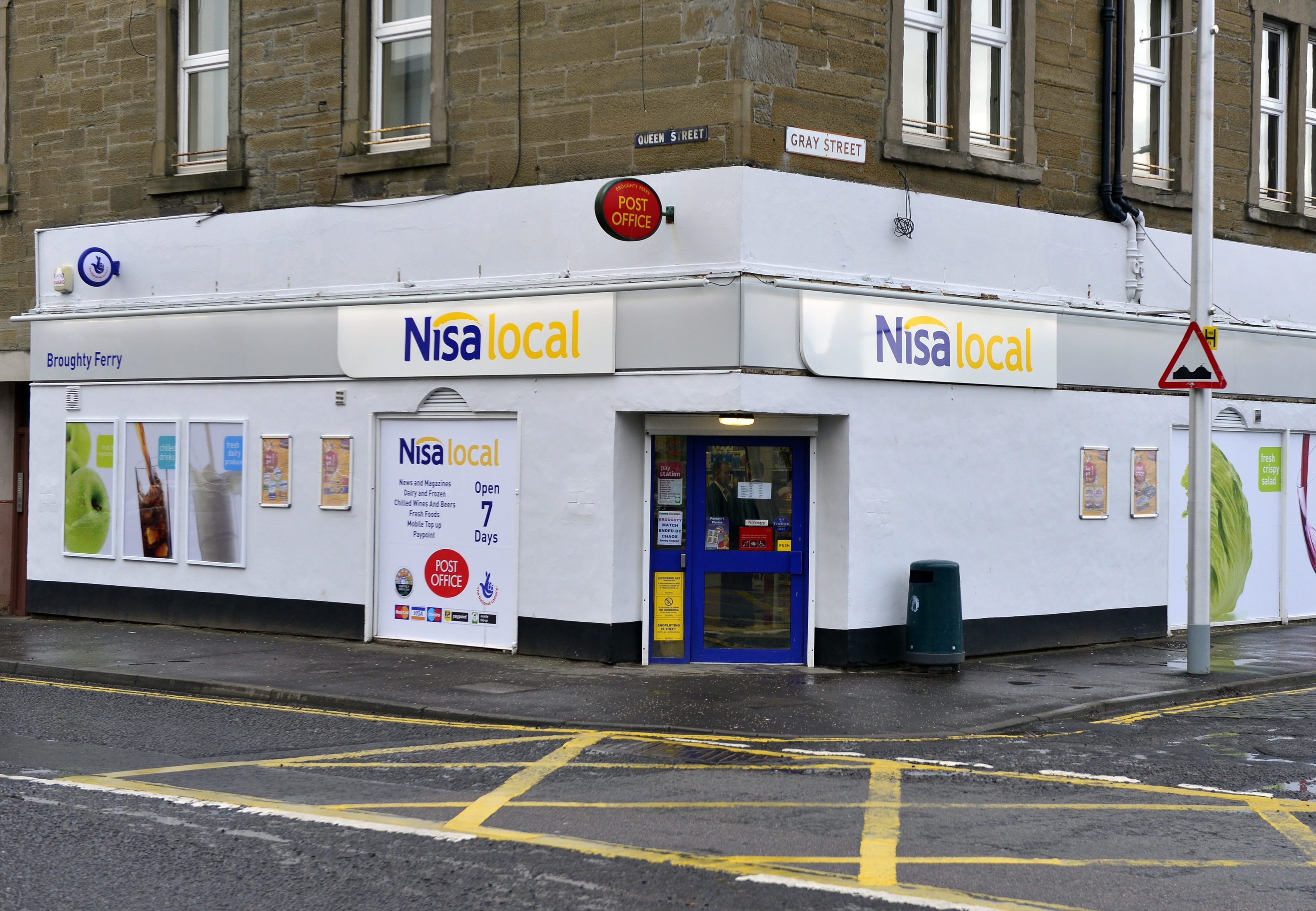 The post office counter was inside the NISA store on Gray Street.