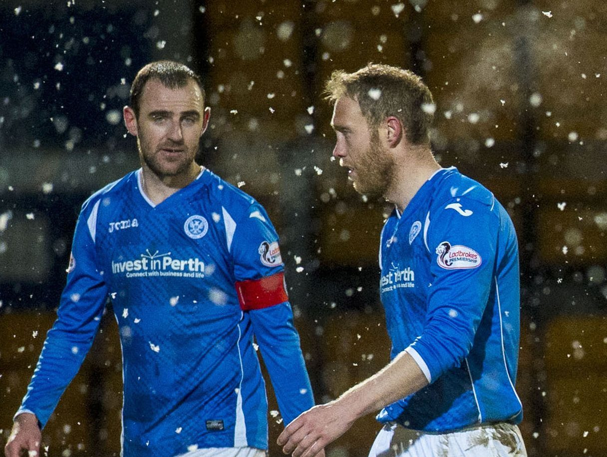 Dave Mackay and Steven Anderson when they were St Johnstone team-mates.
