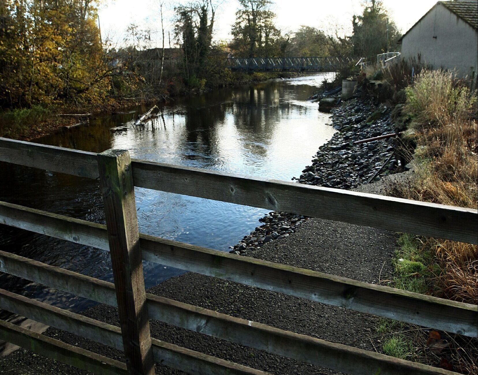 The River Almond at Almondbank.