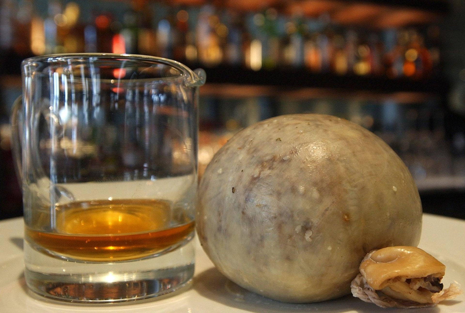 Scottish food and drink The world's most expensive haggis, the Balvenie Cask 191 Haggis created by Scottish chef John Paul McLachlan, and worth £2500, sits beside a dram of Whisky to mark Burn's night.