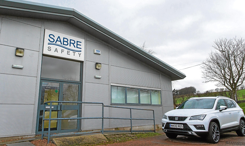 The premises of Sabre Safety at Cupar Trading Estate