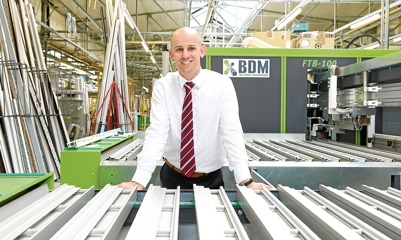 Director Colin Eadie in CR Smith's manufacturing facility iin Cowdenbeath.