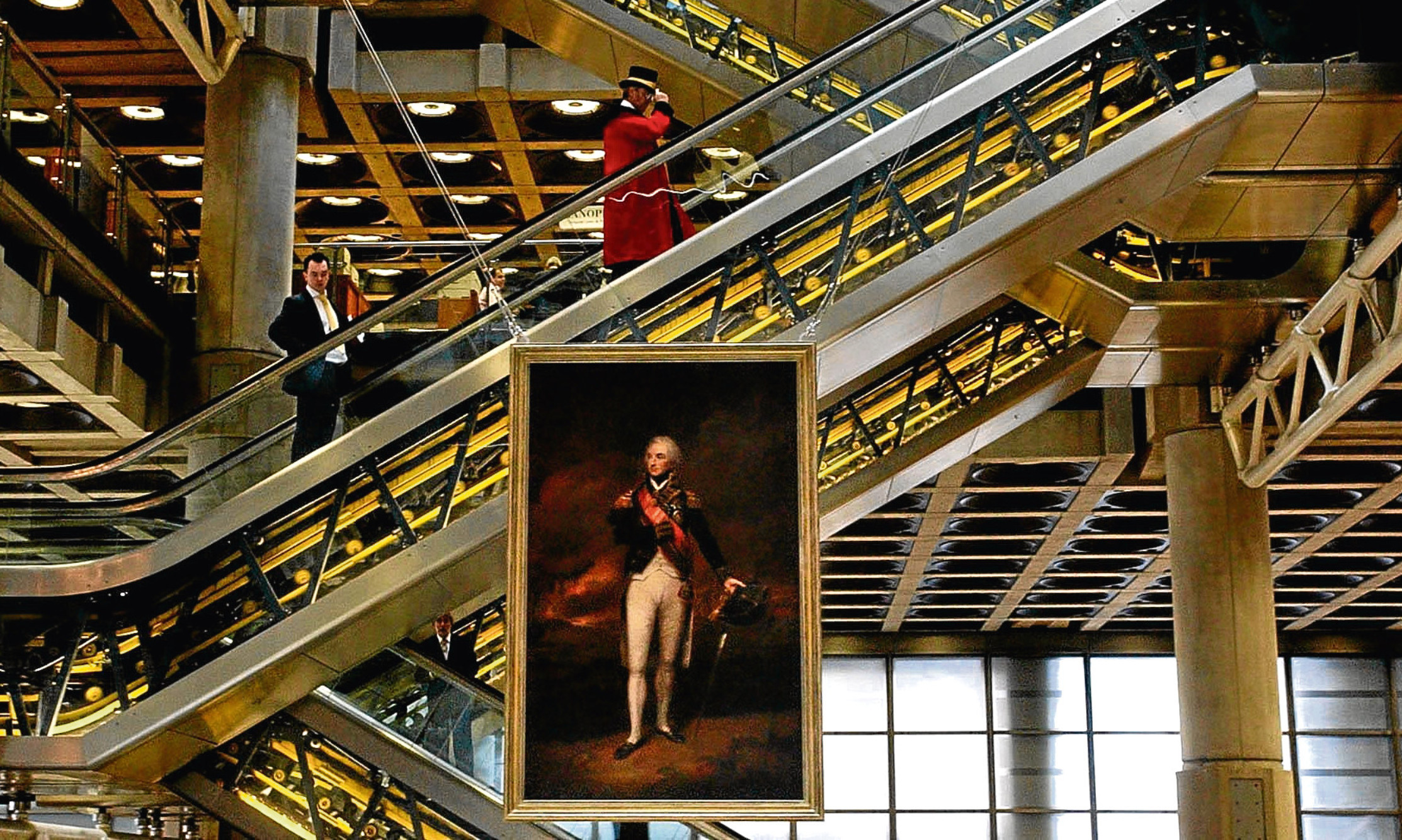 A portrait of Lord Nelson hangs in the Lloyd's of London building.