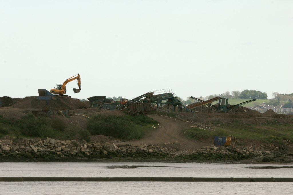 Heavy machinery at the site of the former landfill in 2007.
