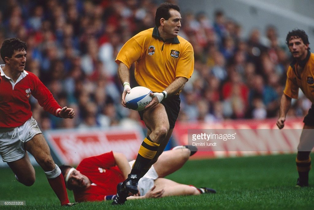 David Campese, who was capped by the Wallabies 101 times