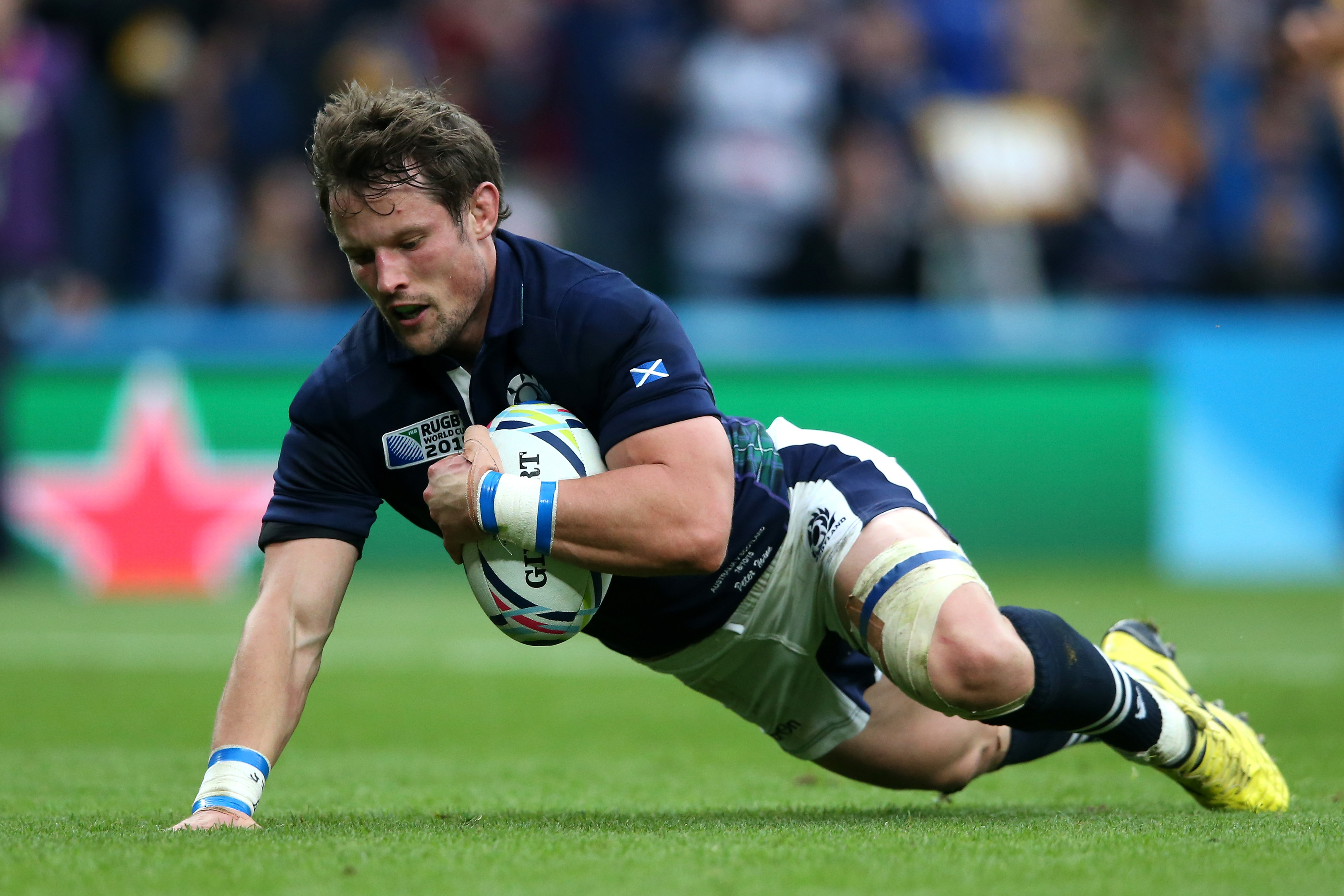 Peter Horne scored for Scotland in the RWC quarter-final in 2015.