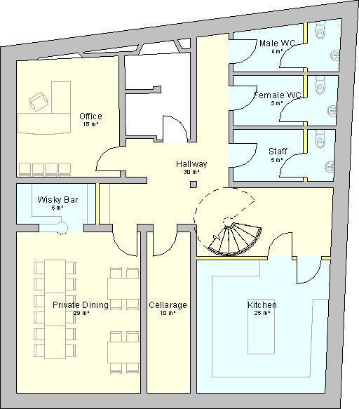 The basement floor plan